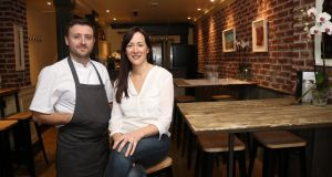 Husband and wife team Nicola Curran and Josef Zammit won a Bib for their canalside restaurant Two Cooks, in Sallins, Co Kildare