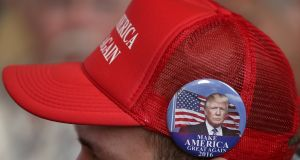 A Donald Trump supporter. Photograph: Jim Young/File Photo/Reuters
