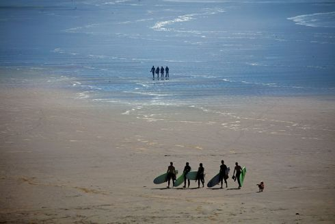 SAND DUDES: Inch Strand, on the Dingle Peninsula, in Co Kerry. Photograph: Valerie O'Sullivan