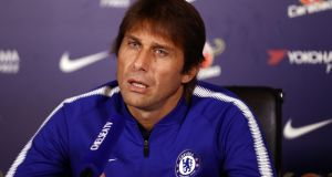 Chelsea head coach Antonio Conte said he  great determination in Eden Hazard. Photograph:  Bryn Lennon/Getty Images