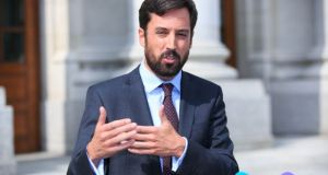 Eoghan Murphy says  it is his aim to get every single family out of homelessness Photograph: Gareth Chaney/Collins