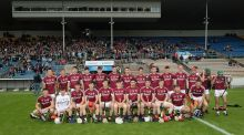 The Galway under-21 hurlers before this year's All-Ireland semi-final.