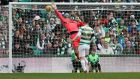 John McGinn's effort beats Craig Gordon in the Celtic goal during Saturday's 2-2 draw. Photograph:  Ian MacNicol/Getty Images