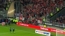 Three seriously injured as barrier collapses during Ligue 1 match