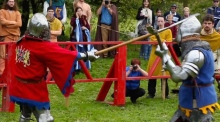 Sword, axe or mace? Competitors test their medieval skills in Galway