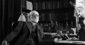 Austrian psychoanalyst Sigmund Freud  in his office in Vienna, circa 1937.  Photograph:  Bourgeron Collection/RDA/Hulton Archive/Getty Images