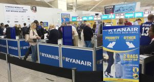 A Ryanair spokesman said the airline 'tries to accommodate such reasonable rerouting requests using a guideline (only) of three-times the original airfare'. Photograph: John Stillwell/PA Wire
