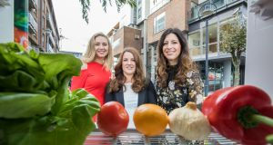 "Anna Daly,TV presenter; Paula Cunningham, Linx Project; and Christine Heffernan of Tesco Ireland launch the ""Community Chill"" campaign."