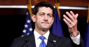 House speaker Paul Ryan is expected to meet Minister for Foreign Affairs Simon Coveney and US special envoy John Deasy this week. Photograph: Joshua Roberts/Reuters