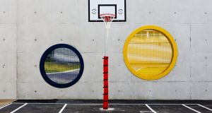 Oberstown Children's Detention Centre's outdoor basketball court. Photograph: Iain White