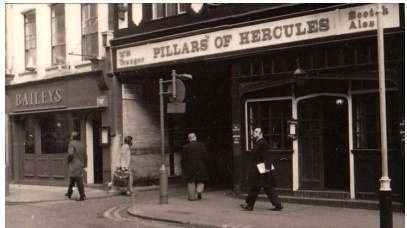 The Soho bistro, next door to the Pillar of Hercules pub, that gave Baileys its name