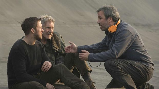Blade Runner sequel: Ryan Gosling and Harrison Ford on set with Denis Villeneuve
