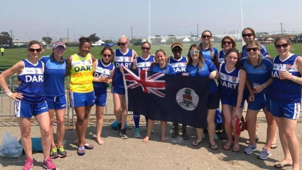 Cayman Islands GAA Ladies at the North American Championships in San Francisco.