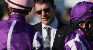 Aidan O'Brien: the trainer is rapidly closing in on Bobby Frankel's record of 25 Group/Grade One victories in a calendar year.  Photograph: Brian Lawless/PA Wire.