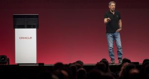 Larry Ellison, chairman and co-founder of Oracle speaks during the Oracle OpenWorld 2017 conference in San Francisco, California.