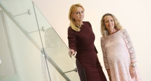 Julie Meyer, left,  founder of First Tuesday and Ariadne Capital, and Olivia Lynch, Partner, KPMG Private Enterprise at RHA, Dublin