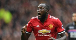 Manchester United's Belgian striker Romelu Lukaku. Photograph: Getty Images