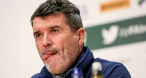 Roy Keane says that Ireland are focused only on Friday's match against Moldova. Photograph: Inpho