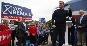 My colleagues on David Cameron's political team were certainly sympathetic – many of them were also angry about Leave's approach to the Irish question – but the truth was that not enough target voters cared enough to make it a central campaign issue. Photograph: Geoff Caddick/Getty Images