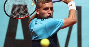 Dan Evans: was banned for one year for testing positive for cocaine. Photograph: Julian Finney/Getty Images
