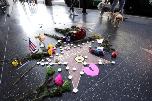STAR PASSES: Late US musician Tom Petty's star on the Hollywood Walk of Fame is adorned with flowers, candles and cards in Hollywood, California, after his death following a cardiac arrest. Photograph: Mike Nelson/EPA