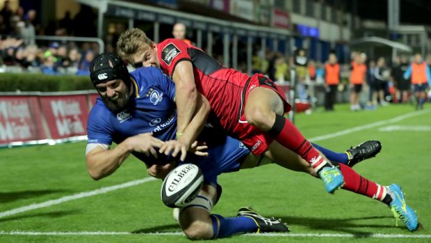 I saw plenty to encourage me in Leinster's performance against Edinburgh; Scott Fardy seems primed to make an sustained impact. Photograph: Morgan Treacy/Inpho