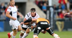 Ulster's Marcell Coetzee in action against the Cheetahs, the last time he saw action  for the province. Photograph: Darren Kidd/Inpho