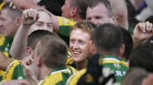 Colm Cooper celebrates Kerry's win over Cork in the 2007 All-Ireland final.  Photographer: Dara Mac Dónaill