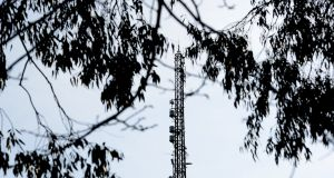 RTÉ's mast in Donnybrook. The broadcaster believes it should be allowed to charge pay-TV operators for its channels. Photograph: Cyril Byrne