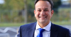 "Leo Varadkar rejected a claim by Fianna Fáil leader Micheál Martin in the Dáil that he had brought ""a party person'' with him on the trip. Photograph:   Colin Keegan/Collins Dublin"