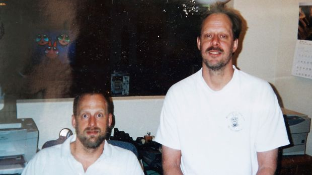 Mandalay Bay shooting: Eric Paddock (left) with his brother, Las Vegas gunman Stephen Paddock. Photograph via AP