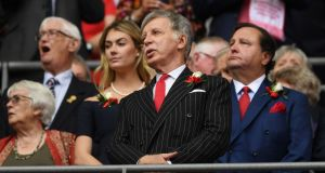 Arsenal majority shareholder Stan Kroenke before last year's FA Cup final. Photograph: Getty Images