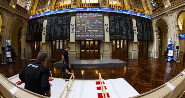 Madrid stock exchange. Photograph: Angel Navarrete/Bloomberg