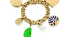 Vivien Leigh's  charm bracelet, with a top estimate of £1,500, made £33,750 at Sotheby's