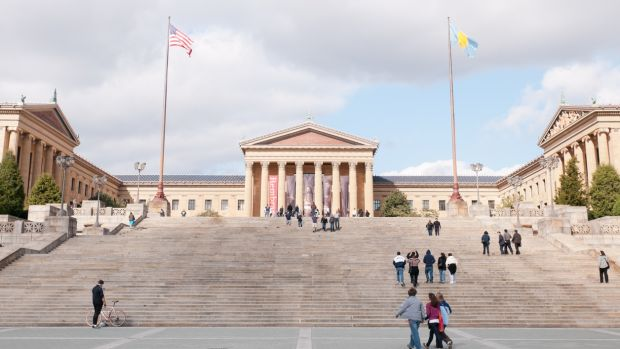 "The Philadelphia Museum of Art with its ""Rocky Steps""."