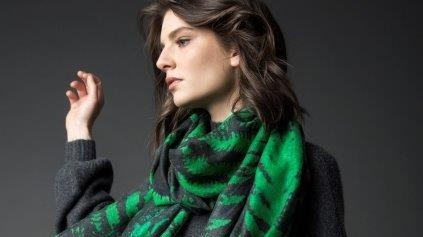 Forest Fern Green scarf, €90, KDK