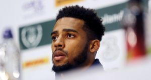 Republic of Ireland defender Cyrus Christie rates Séamus Coleman as one of the best fullbacks in the world. Photograph: Lorraine O'Sullivan/Inpho