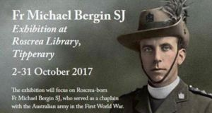 Fr Michael Bergin SJ: died 100 years ago this month