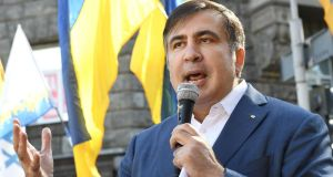 Former Georgian president Mikheil Saakashvili's pending asylum application prevents Ukraine extraditing to him to Georgia. Photograph: Sergei Supinsky/AFP/Getty Images