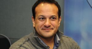 Leo Varadkar: loves a good compliment and got far too many from Gerry Adams and Bríd Smith. Photograph: Aidan Crawley