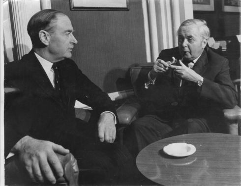 Then taoiseach Liam Cosgrave duing a meeting with British prime minister Harold Wilson