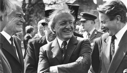 Among those at the 1916 commemoration ceremony in Arbour Hill, Dublin, in May 1983 were the former taoiseach Liam Cosgrave, the Fianna Fáil leader Charlie Haughey, and the Minister for the Public Service John Boland.  Photograph: Peter Thursfield/The Irish Times