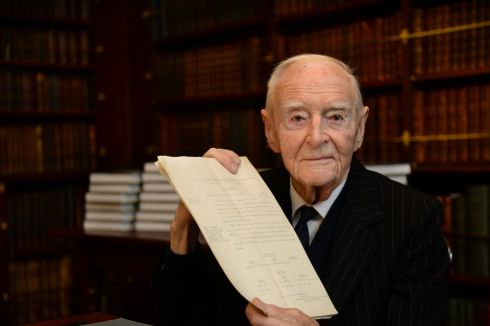 Liam Cosgrave, on the occasion of the donation of his father's papers to the Royal Irish Academy. Photograph: Dara Mac Donaill / The Irish Times