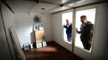 Historic Shackleton ship's cabin is conserved for display in Athy