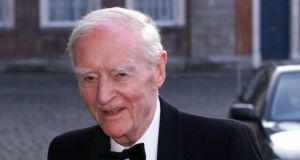 Liam Cosgrave was someone who devoted his life to public service, Taoiseach Leo Varadkar has told the Dáil. Photograph: Collins.