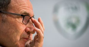 Republic of Ireland manager Martin O'Neill is still confident Ireland can qualify for the World Cup. Photograph: Inpho