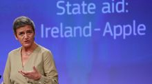European competition commissioner Margrethe Vestager said on Wednesday she had referred Ireland to the European Court of Justice for failing to recover some €13 billion in illegal state aid from Apple. Photograph: EPA