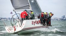 Pat Kelly's Storm from Rush Sailing Club will defend its J109 Irish title on Dublin Bay. Photograph: David O'Brien