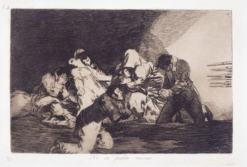 Francisco Goya (1746-1828) - One cannot look at this (No se puede mirar)