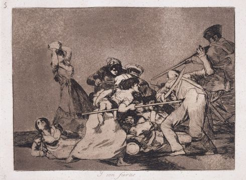 Francisco Goya (1746-1828) - And are like wild beasts (Y son fieras)